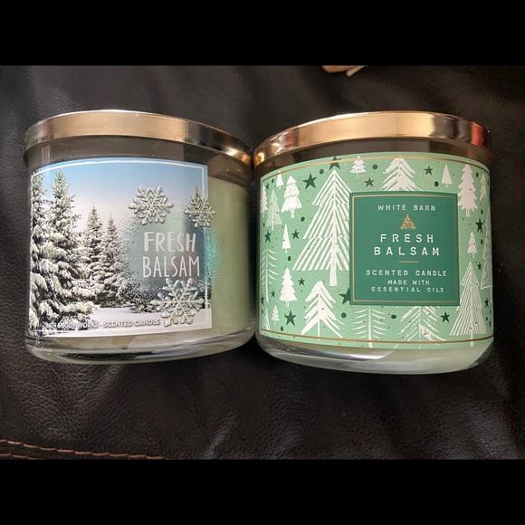 Bath & Body Works Fresh Balsam 3 Wick Candle (2)